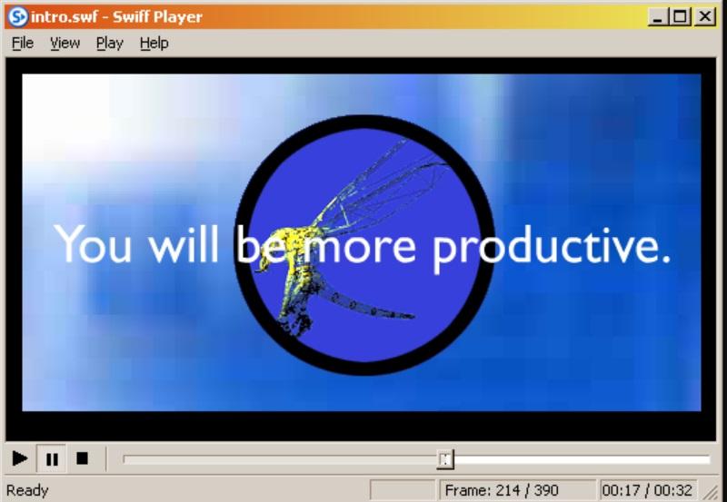 open swf file swiff player interphase