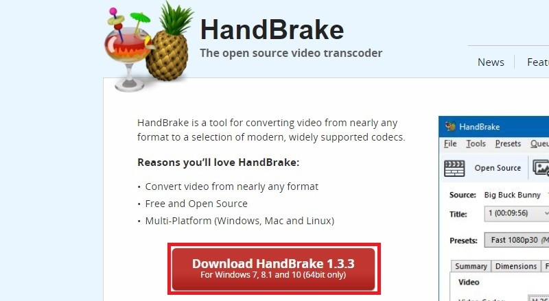 video2dvd handbrake step1