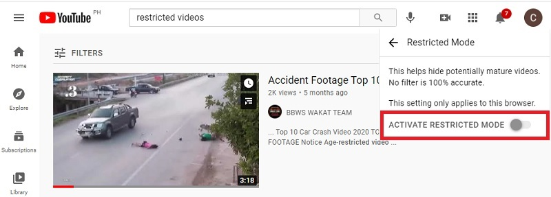 watch age restricted youtube videos method3