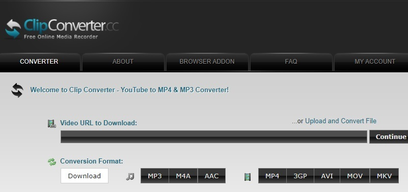 youtube to m4a clipconverter