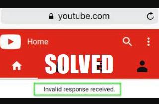Splendid Ways to Fix YouTube Invalid Response Received