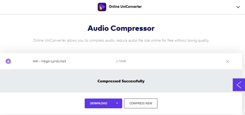 free audio compressor uniconverter