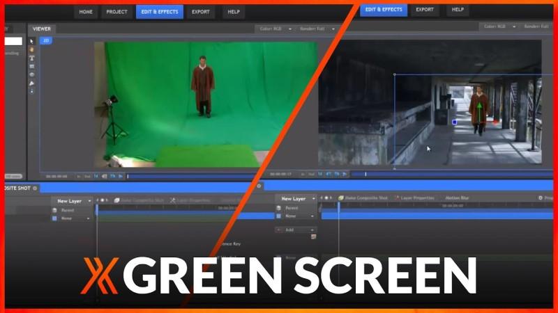 free green screen software hitfilm