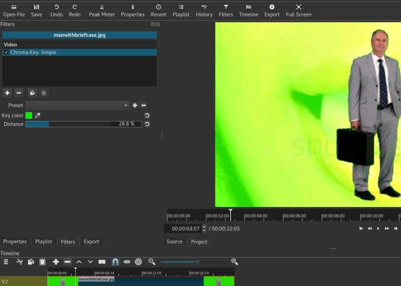 free green screen software shotcut