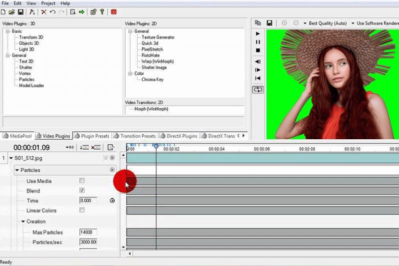 free green screen software wax