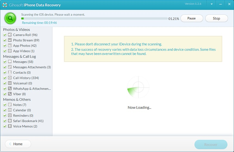 free iphone data recovery software gihosoft