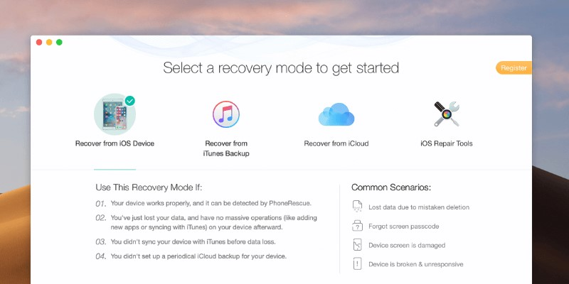 free iphone data recovery software imobie