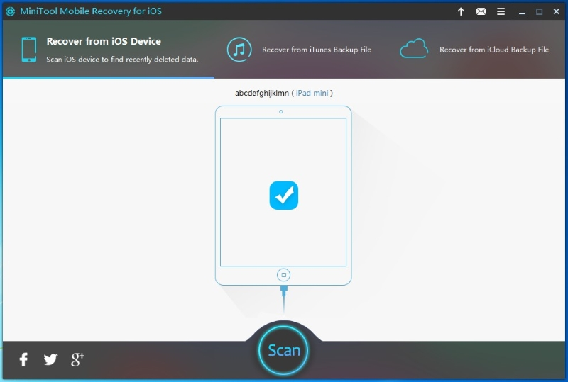 free iphone data recovery software minitool