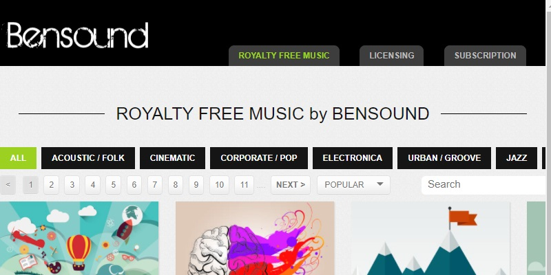 free music for youtube videos bensound