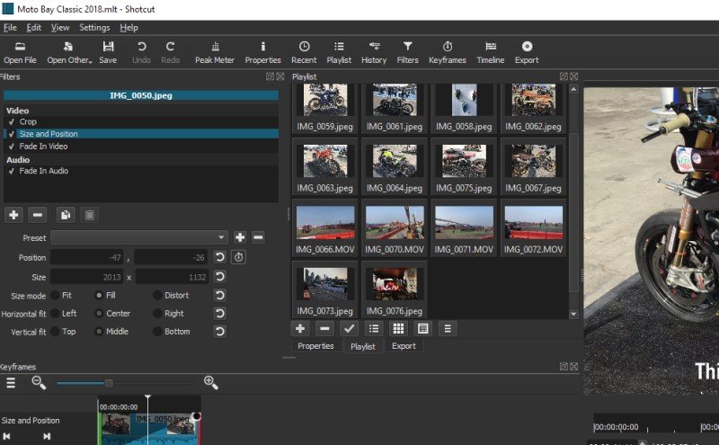 free video splitter shotcut