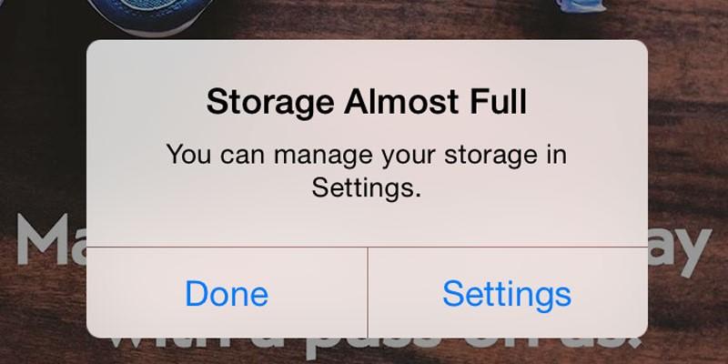 instagram not posting full storage