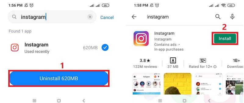 instagram videos no sound reinstall app
