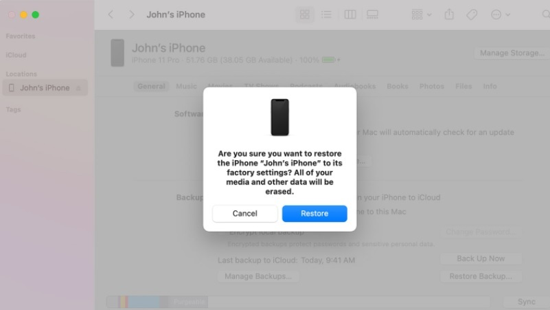 recover data from locked iphone itunes