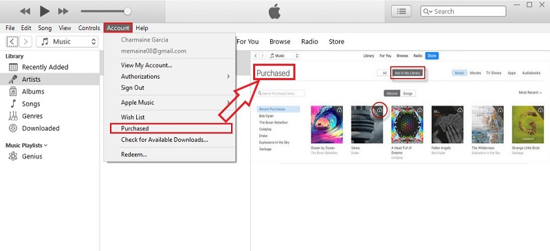 recover deleted music iphone itunes purchased