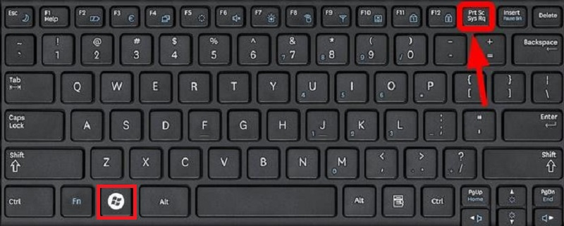 screenshot lenovo prntscrn key windows 10