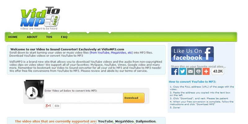 sites like vidtomp3 vidtomp3 step1