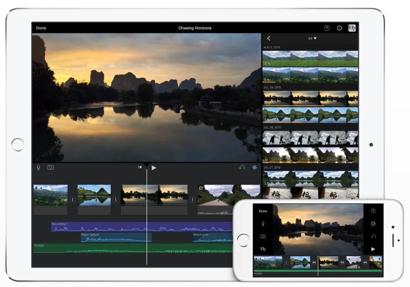 split screen in imovie ios interface