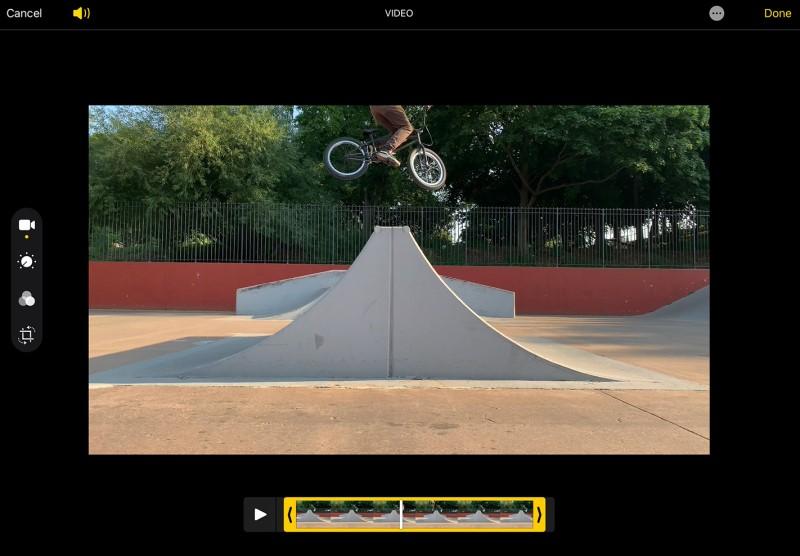 split screen in imovie play iphone
