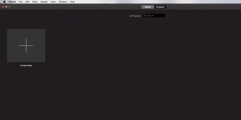 split screen in imovie step1