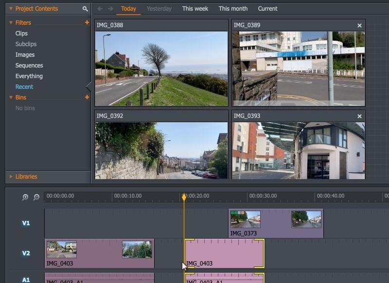 split screen video editor lightworks