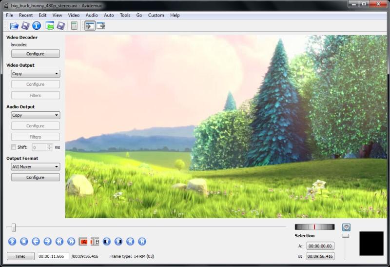 video editor for youtube Avidemux