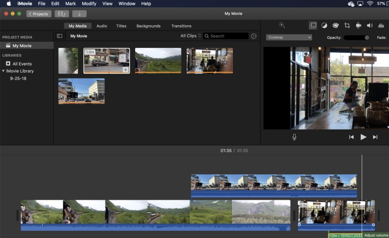 video editor for youtube iMovie