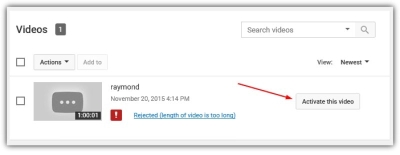 youtube abandoned activate video