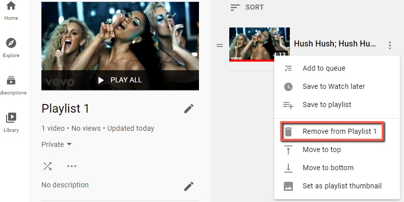 youtube autoplay not working remove videos playlist