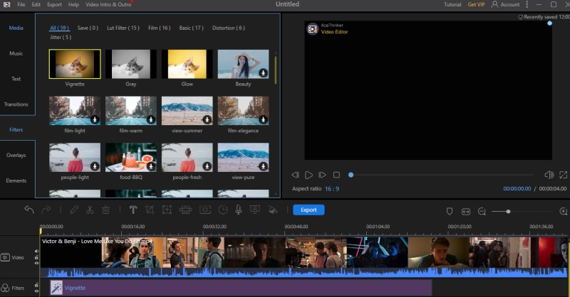 add effects to imovie ve process