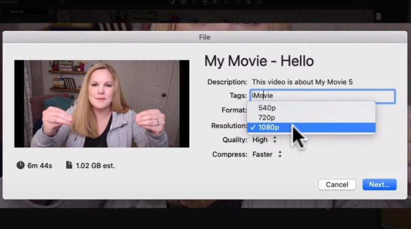 add watermark in imovie export