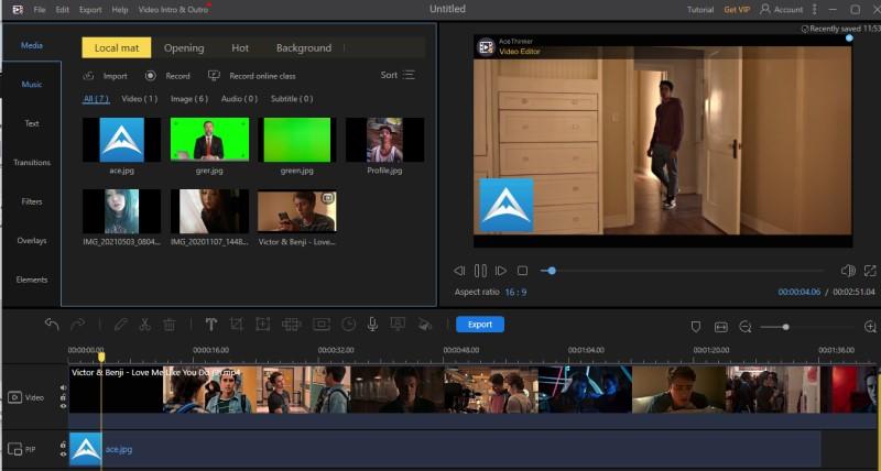 add watermark in imovie ve process