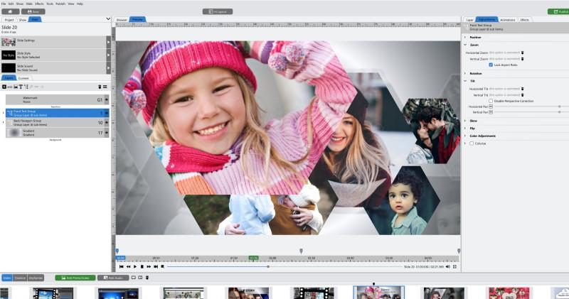 best free slideshow maker photopia