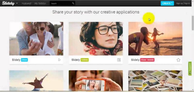 best free slideshow maker slidely
