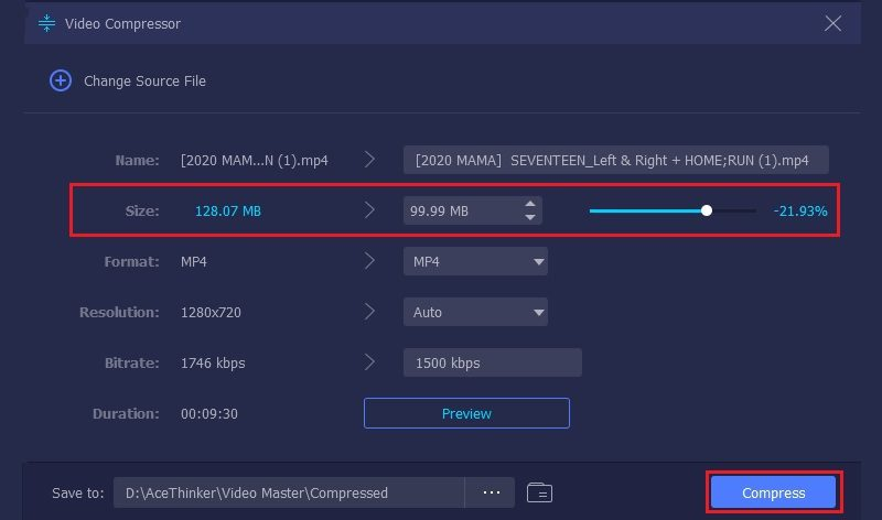 compress video for web vm step3