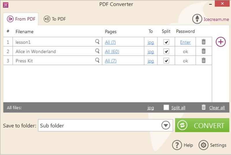 csv to pdf converter icecream