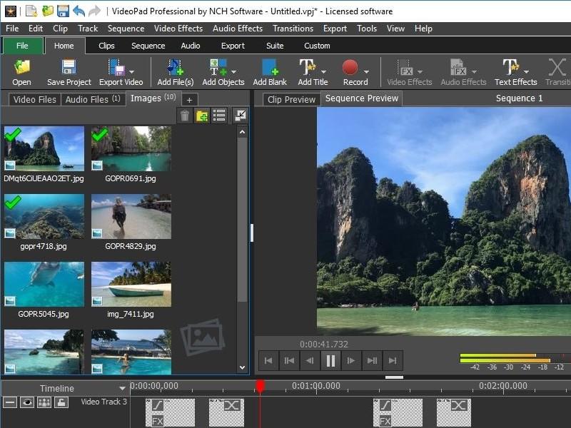 free mp4 editor videopad