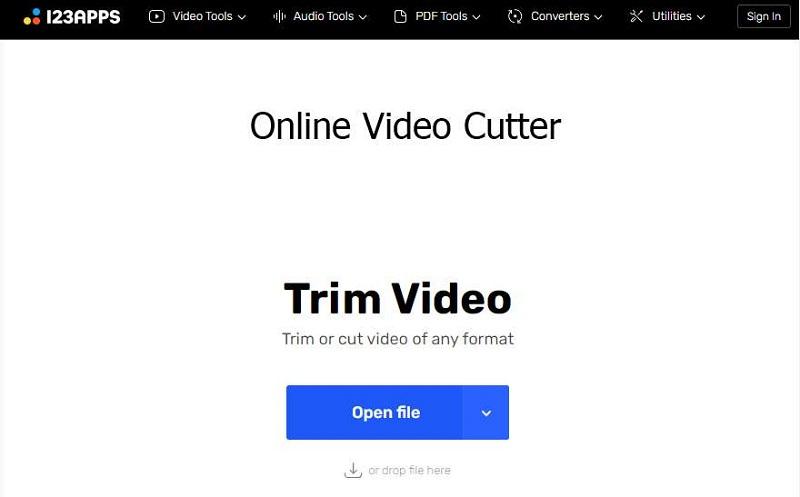 online video cutter interface