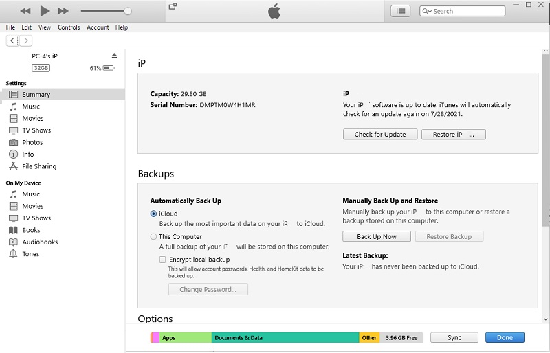 recover deleted calendar events iphone iTunes