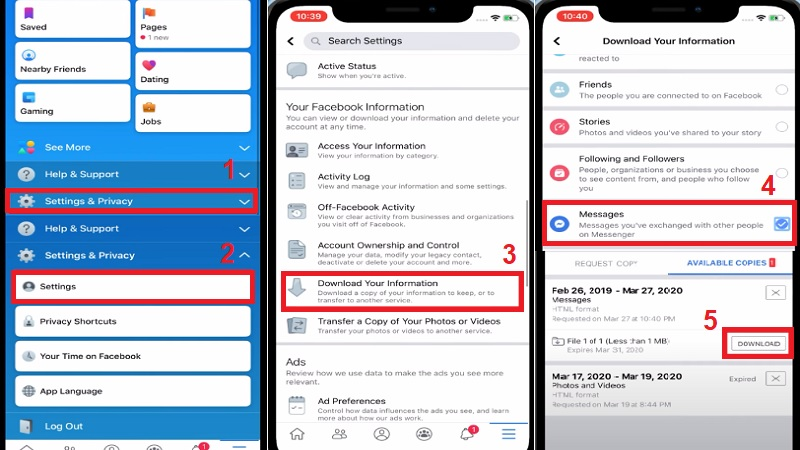 recover deleted messenger messages iphone recover on facebook