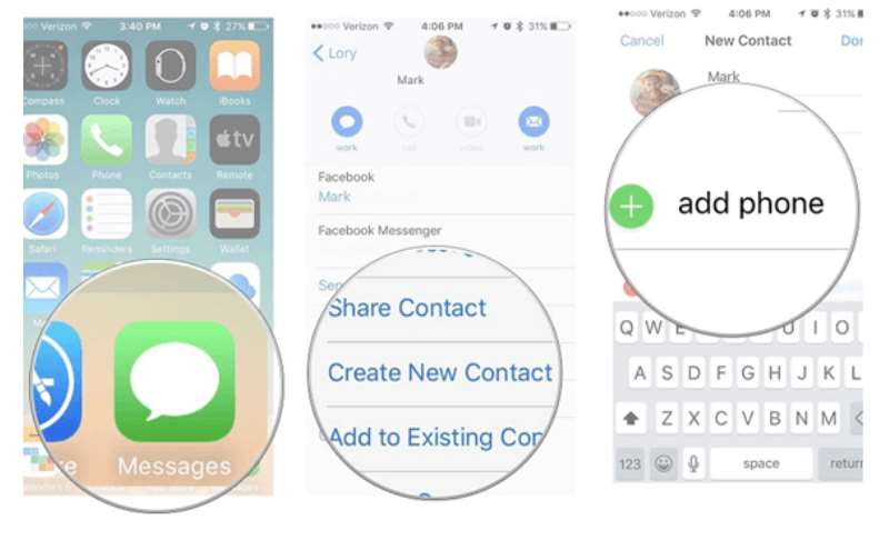 restore deleted contacts iphone messages