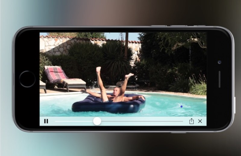 reverse video in imovie interface ipad play