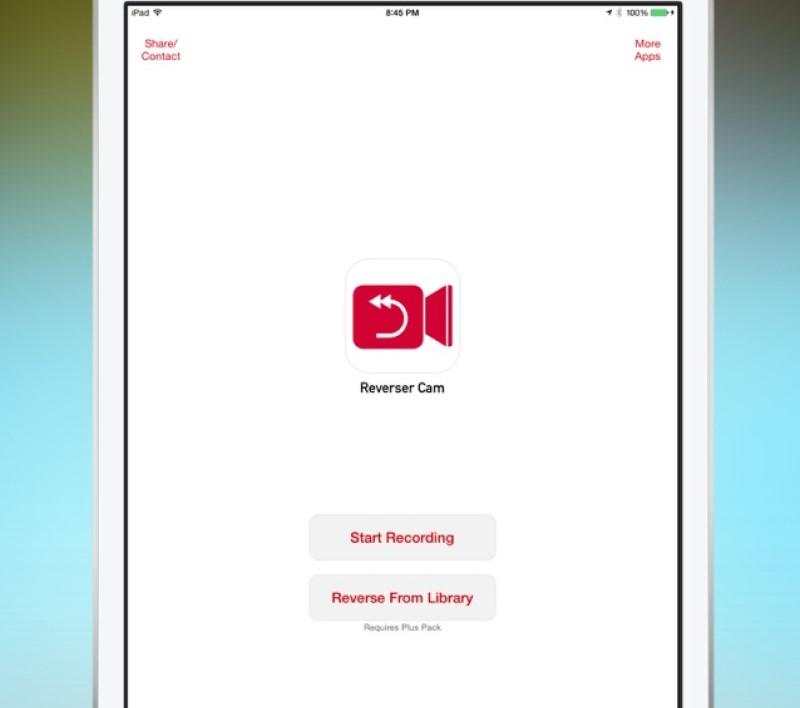 reverse video in imovie interface ipad