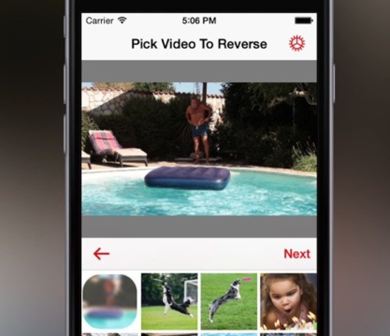 reverse video in imovie interface mobile process