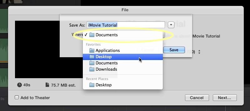 reverse video in imovie save