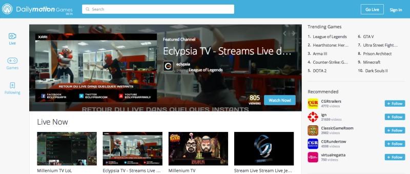 sites like twitch dailymotion