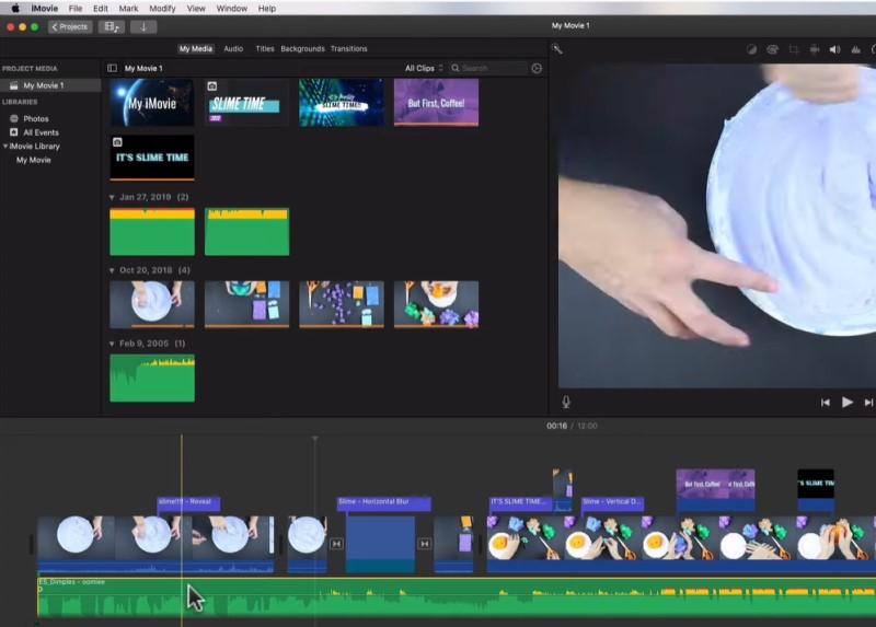 add background music to imovie process