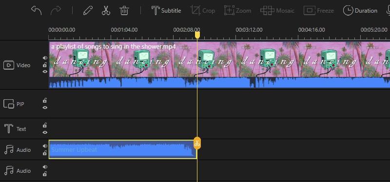add background music to imovie ve process