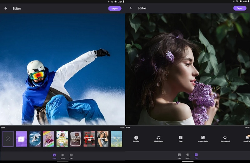 best free video editor for android filmigo