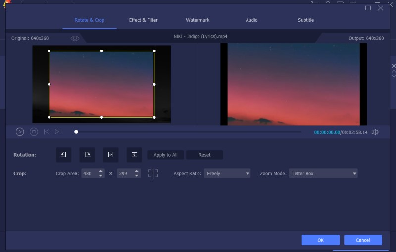 crop videos in adobe premiere vm process