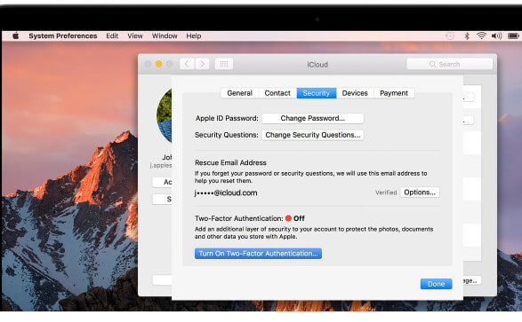 enable two factor authentication turn on two factor authentication mac